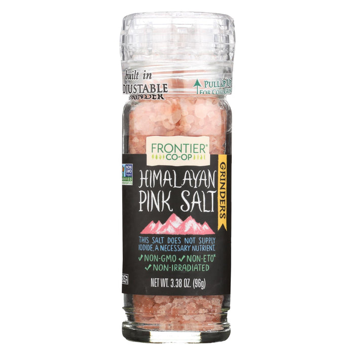 Frontier Herb Himalayan Pink Salt - Grinder Bottle - 3.4 Oz - Case Of 6