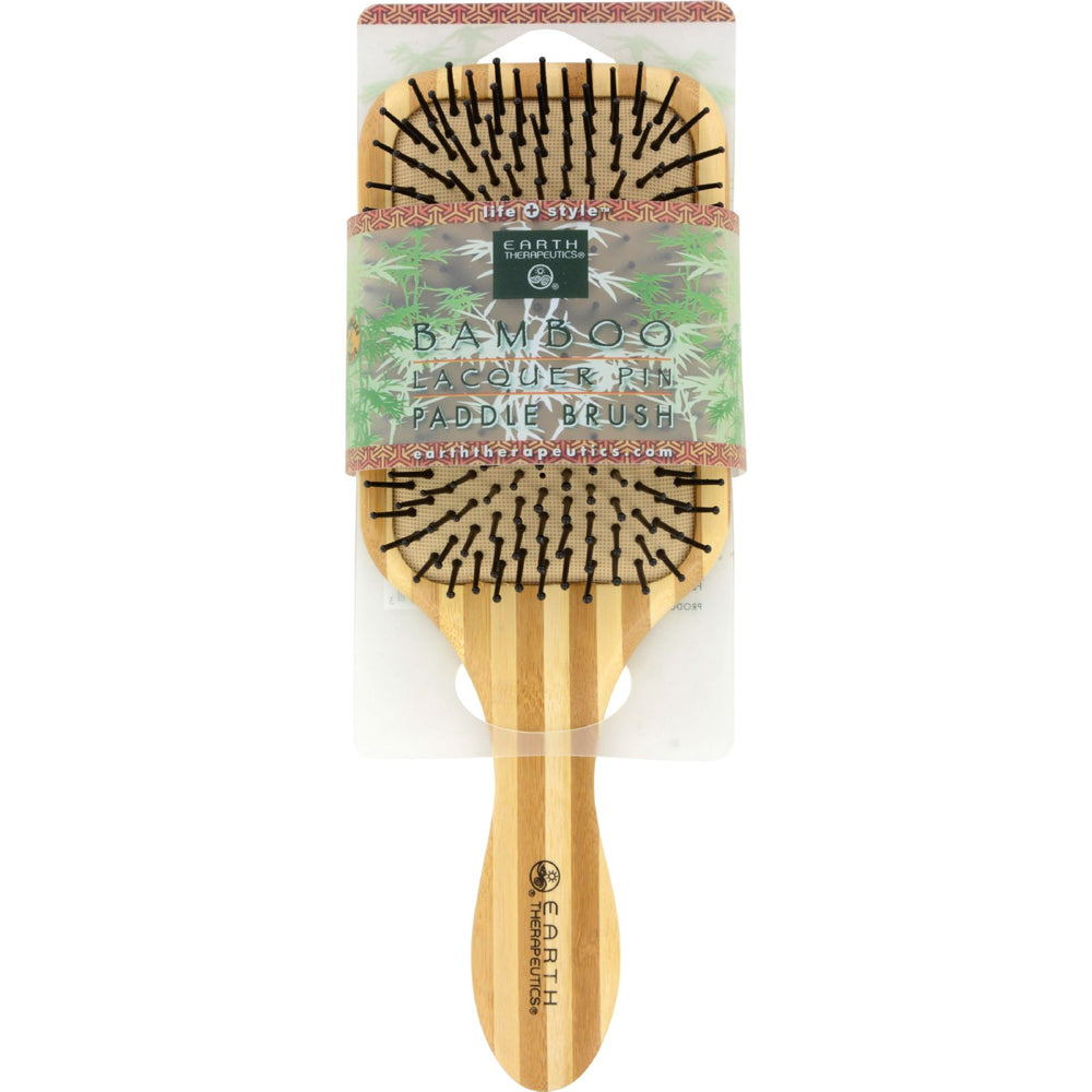 Earth Therapeutics Large Bamboo Lacquer Pin Paddle Brush - 1 Brush