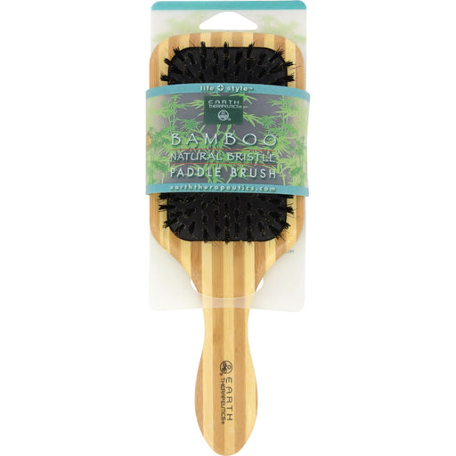 Earth Therapeutics Large Bamboo Natural Bristle Paddle Brush - 1 Brush