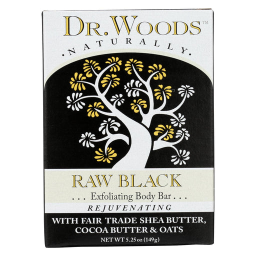 Dr. Woods Bar Soap Raw Black - 5.25 Oz