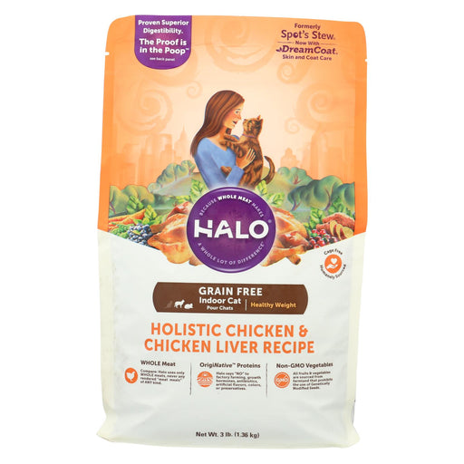 Halo Purely For Pets Spot's Stew Cat Grain - Free - Chicken Recipe Price: 15.99 - Case Of 6 - 3 Lb.