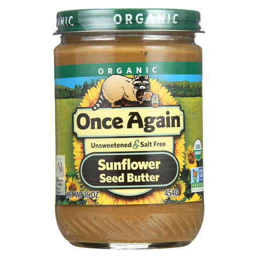 Once Again Seed Butter - Organic - Creamy - No Salt - Sugar Free - Sunflower - 16 Oz - Case Of 12