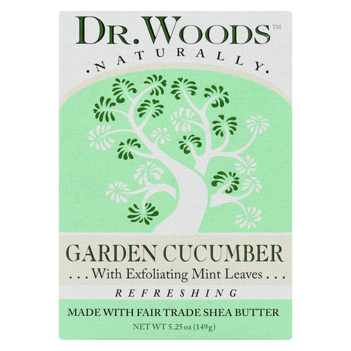 Dr. Woods Bar Soap Garden Cucumber - 5.25 Oz