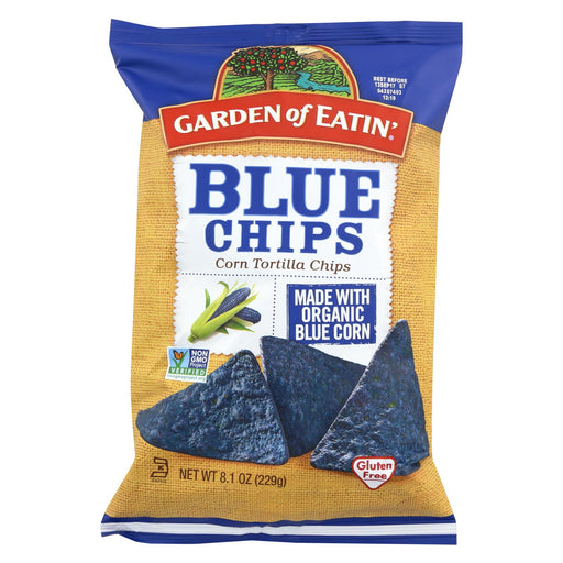 Garden Of Eatin' Blue Corn Tortilla Chips - Tortilla Chips - Case Of 12 - 8.1 Oz.