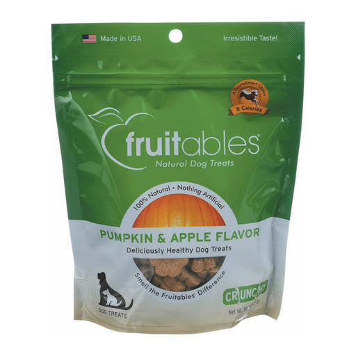 Fruitables Healthy Dog Treats - Pumpkin & Apple Flavor - Case Of 8 - 7 Oz