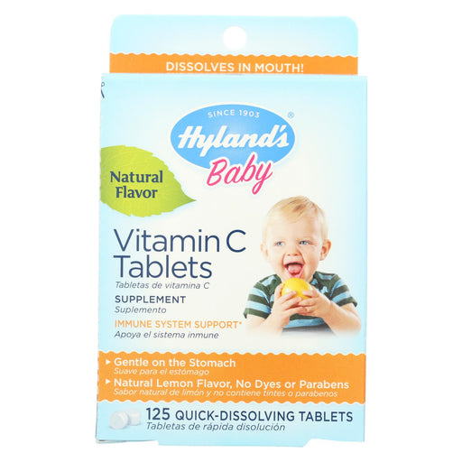 Hyland's Vitamin C Tablets Natural Lemon - 25 Mg - 125 Tablets