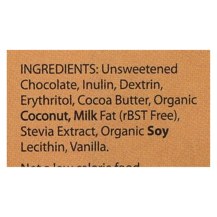 Lily's Sweets Chocolate Bar - Dark Chocolate - 55 Percent Cocoa - Coconut - 3 Oz Bars - Case Of 12