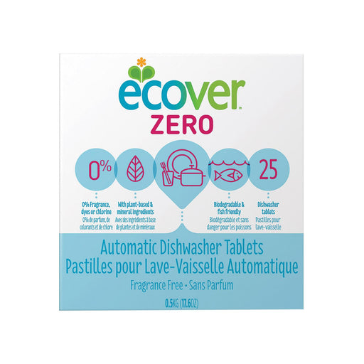 Ecover Zero Automatic Dishwasher Tablets - Case Of 12 - 17.6 Oz.