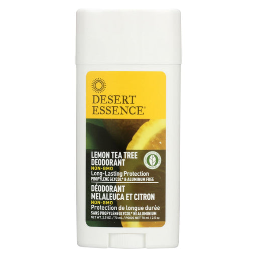 Desert Essence Deodorant - Lemon Tea Tree - 2.5 Oz