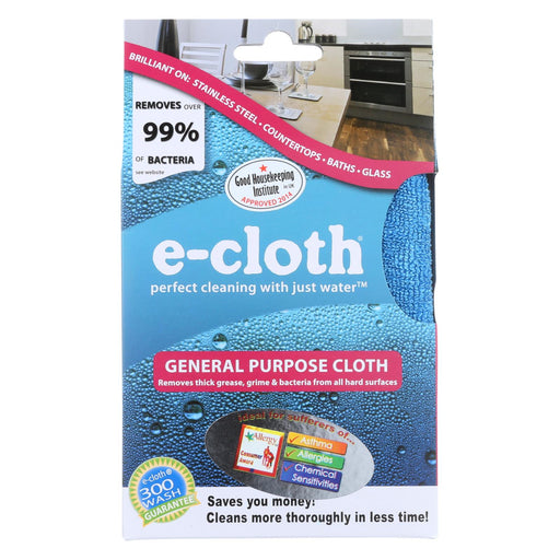 "E-cloth General Purpose Cloth 12.5"" X 12.5"" Inches - 1 Cloth"