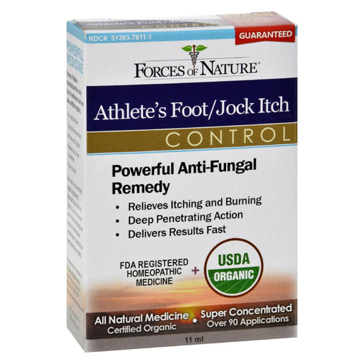 Forces Of Nature Organic Athlete's Foot And Jock Itch Control - 11 Ml