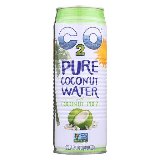 C2o Pure Coconut Water Pure Pulp Coconut Water - Case Of 12 - 17.5 Fl Oz