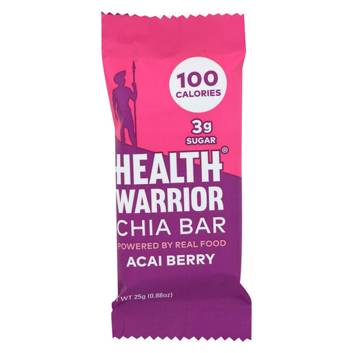 Health Warrior Chia Bar - Acai Berry - .88 Oz Bars - Case Of 15