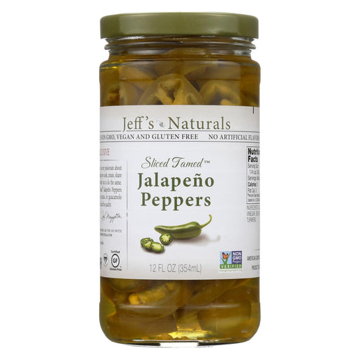 Jeff's Natural Jeff's Natural Jalapeno Peppers - Jalapeno - Case Of 6 - 12 Oz.