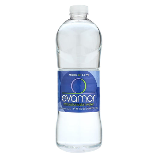 Evamor Naturally Alkaline Artesian Water - Natural Artesian - Case Of 6 - 64 Fl Oz.