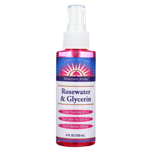Heritage Products Rosewater And Glycerin Spray - 4 Fl Oz