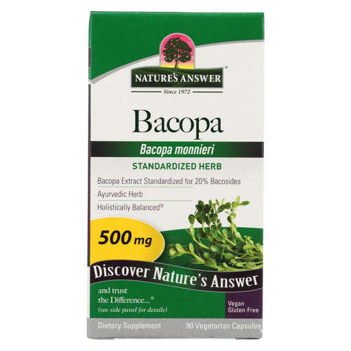 Nature's Answer Bacopa - 500 Mg - 90 Veggie Caps