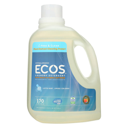 Earth Friendly Free And Clear Laundry Detergent - Case Of 2 - 170 Fl Oz.