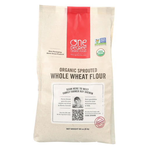 One Degree Organic Foods Whole Wheat Flour - Organic - Case Of 4 - 80 Oz.