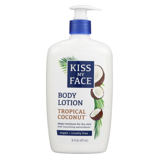 Kiss My Face Moisturizer - Coconut - 16 Fl Oz