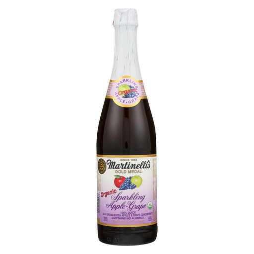 Martinelli's Organic Sparkling Apple Grape - Case Of 12 - 25.4 Fl Oz.