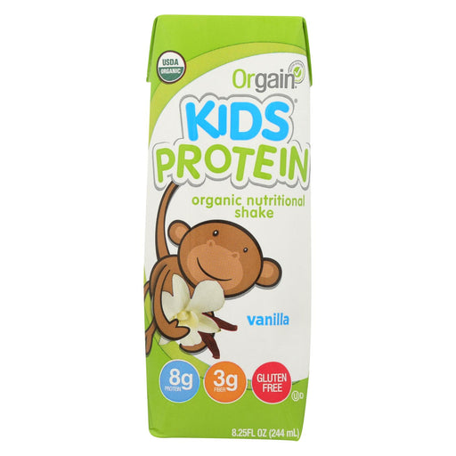 Orgain Organic Nutrition Shake - Vanilla Kids - 8.25 Fl Oz - Case Of 12