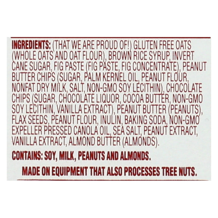 Van's Natural Foods Gluten Free Snack Bars - Peanut Butter Chocolate - Case Of 6 - 1.2 Oz.