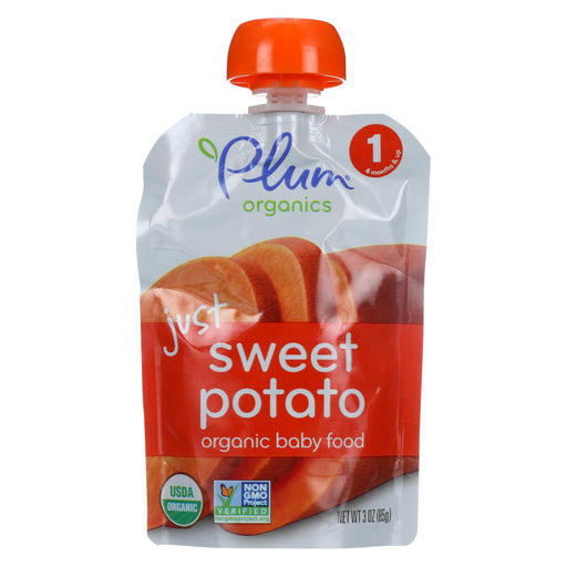 Plum Organics Just Veggie Baby Food - Sweet Potato - Case Of 6 - 3 Oz.