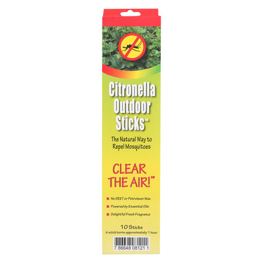 Neem Aura Naturals Outdoor Citronella Sticks - 10 Count