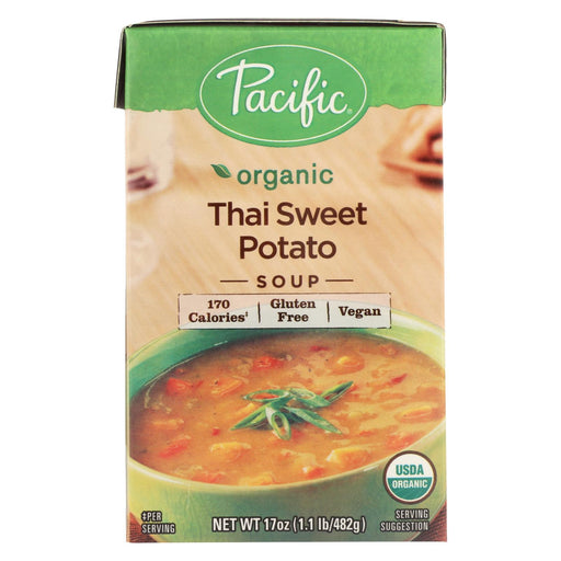Pacific Natural Foods Soup - Thai Sweet Potato - Case Of 12 - 17 Oz.