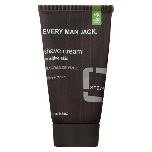 Every Man Jack Shave Cream Fragrance Free - Shave Cream - 1 Fl Oz.