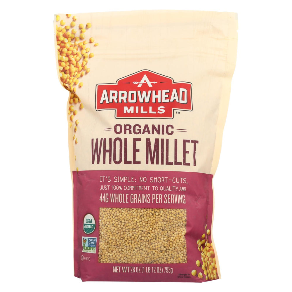 Arrowhead Mills Organic Hulled Millet - Case Of 6 - 28 Oz.