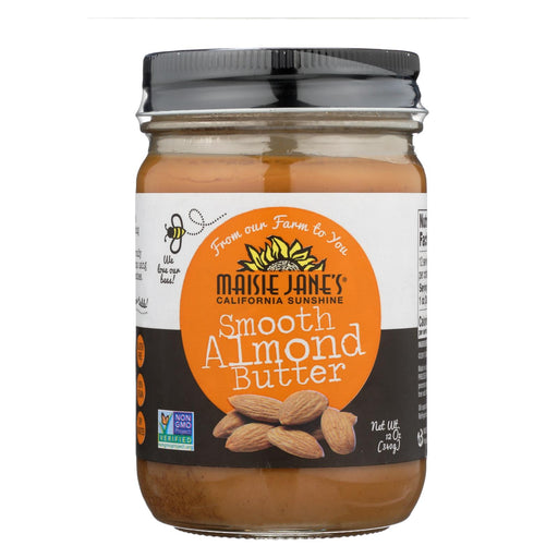 Maisie Jane's Almond Butter Dry Roasted Smooth - Case Of 12 - 12 Oz.