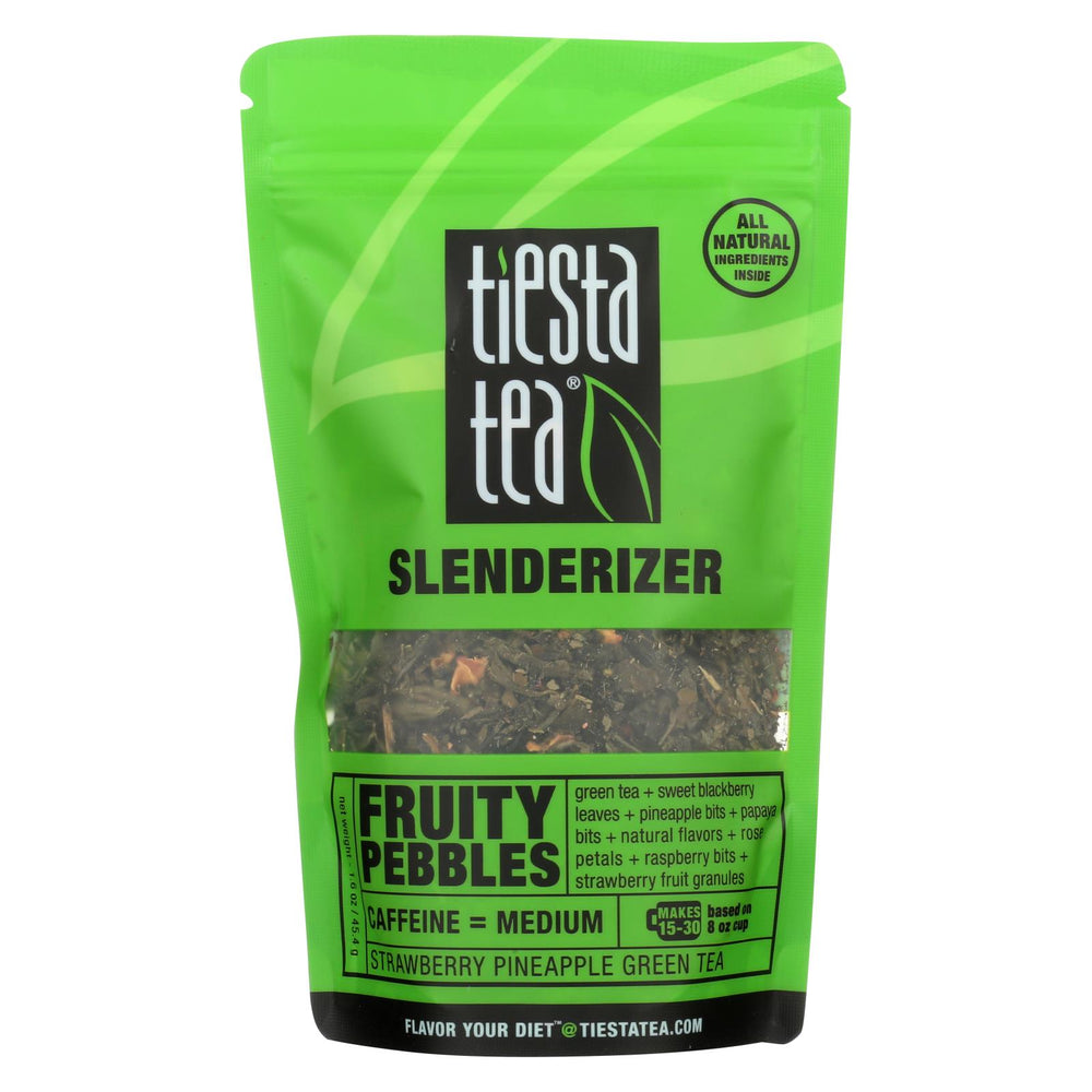 Tiesta Tea Slenderizer Green Tea - Fruity Pebbles - Case Of 6 - 1.6 Oz.