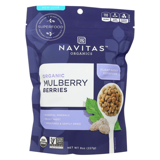 Navitas Naturals Mulberry Berries - Organic - Sun-dried - 8 Oz - Case Of 12