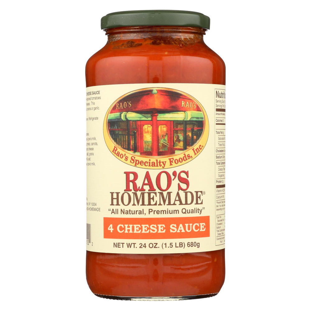 Rao's Specialty Food Homemade Sauce - 4 Cheese - Case Of 12 - 24 Oz.