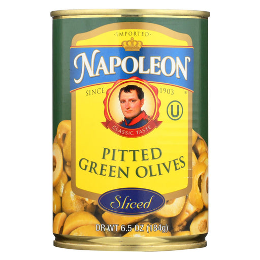 Napoleon Olives Sliced - Green - Case Of 12 - 7 Oz.