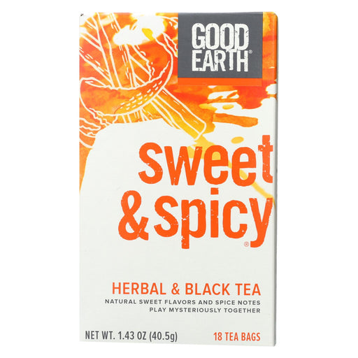 Good Earth Herbal And Black Tea - Sweet And Spicy - Case Of 6 - 18 Count