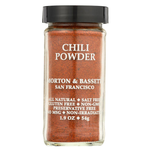 Morton And Bassett Chili Powder - Chili - Case Of 3 - 1.9 Oz.