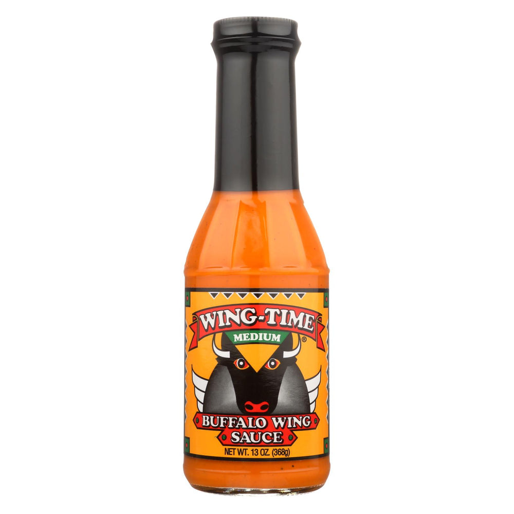 Wing Time The Traditional Buffalo Wing Sauce - Medium - Case Of 12 - 13 Oz.