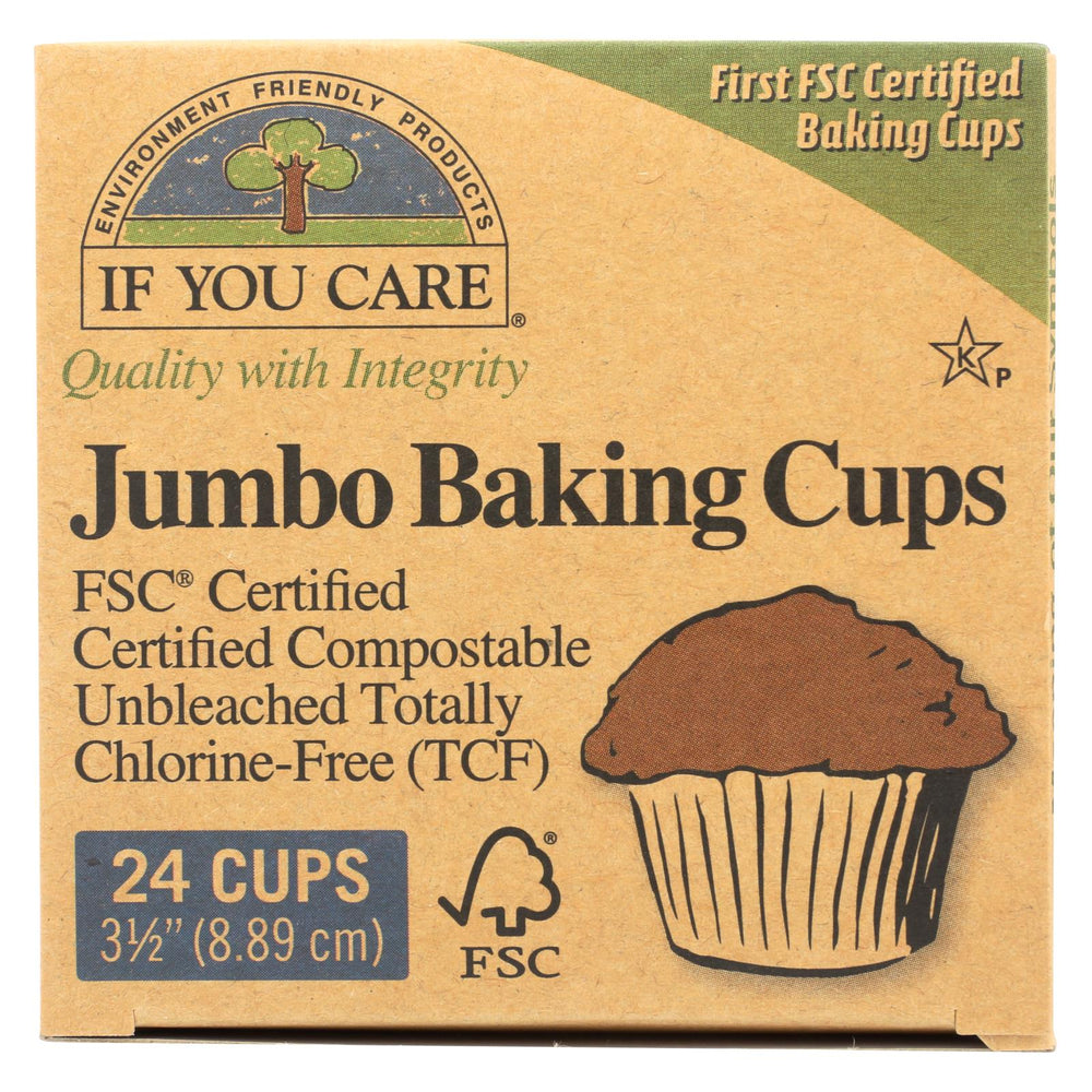 If You Care Jumbo Baking Cups - Unbleached - Case Of 24 - 24 Count