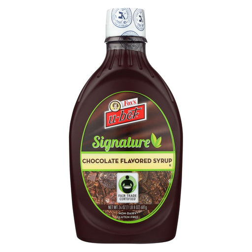 Fox's U-bet Syrup - Chocolate - Natural - Case Of 12 - 24 Oz