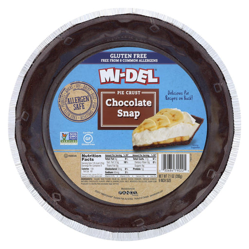 Midel Gluten Free Chocolate Snaps - Pie Crust - Case Of 12 - 7.1 Oz.