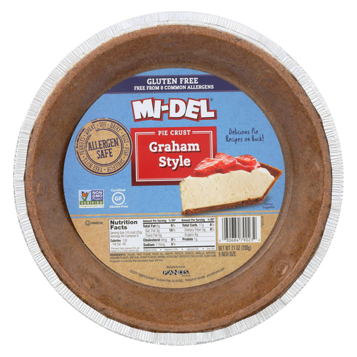 Midel Gluten Free Graham Style Pie Crust - Case Of 12 - 7.1 Oz.