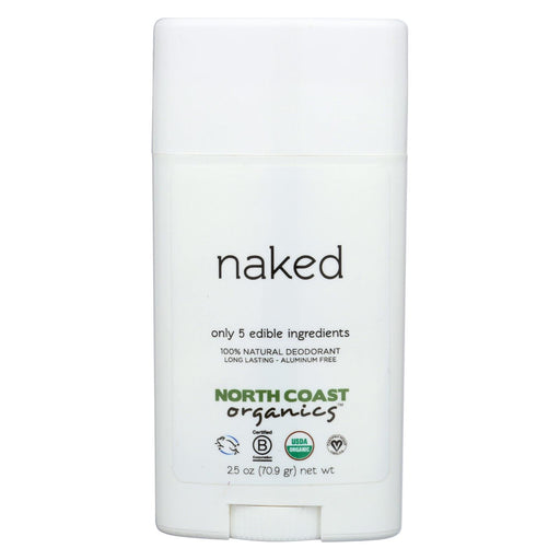 North Coast Organics Deodorant - Naked, Sensitive Skin - 1 Each - 2.5 Oz.