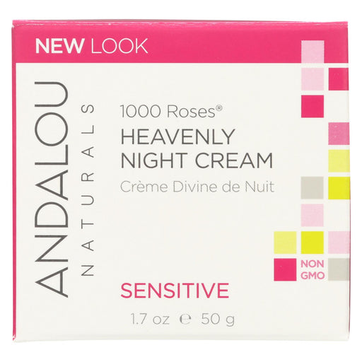 Andalou Naturals Heavenly Night Cream - 1000 Roses - 1.7 Oz