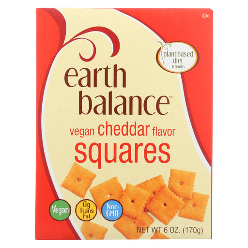 Earth Balance Vegan Squares - Cheddar - Case Of 6 - 6 Oz.