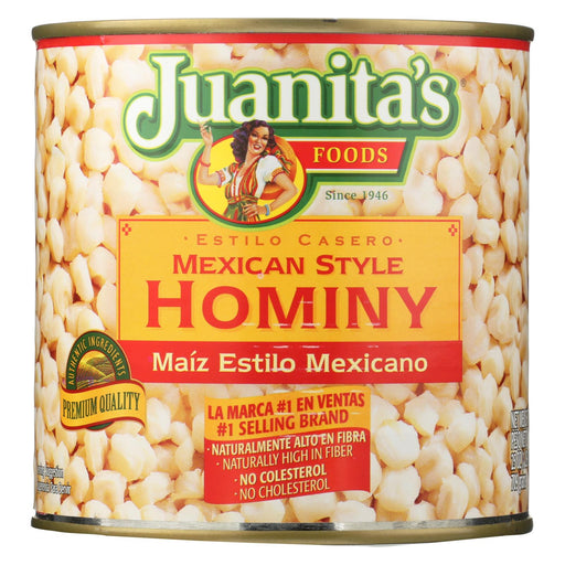 Juanita's Foods Hominy - Mexican Style - Case Of 12 - 25 Oz.
