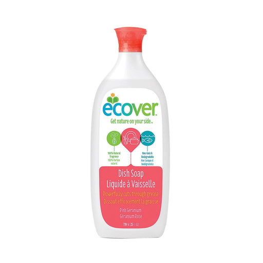 Ecover Liquid Dish Soap - Pink Geranium - Case Of 6 - 25 Fl Oz.