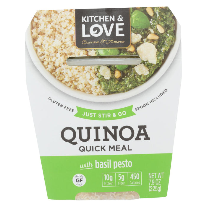Cucina And Amore Quinoa Meals - Basil Pesto - Case Of 6 - 7.9 Oz.
